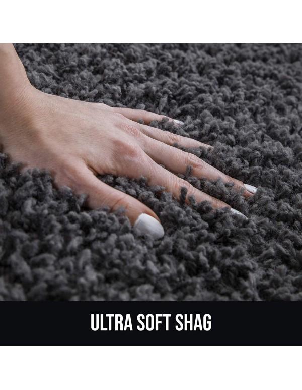 Perla Furniture 5X7 Area Rug – Gray Shag Rug, Grey Shaggy Area Rugs 5X7