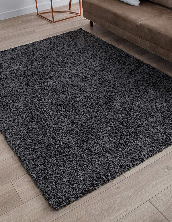 Perla Furniture 5X7 Area Rug – Gray Shag Rug, Grey Shaggy Area Rugs 5X7